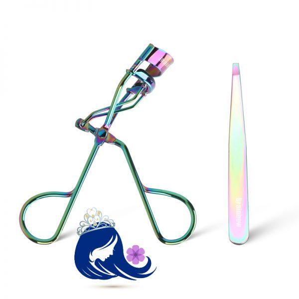 Eyelash Curler With Flat Head Tweezer